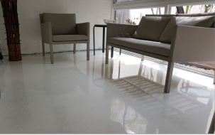 White Epoxy with glitter - Covered Patio - Wilton Manors, FL