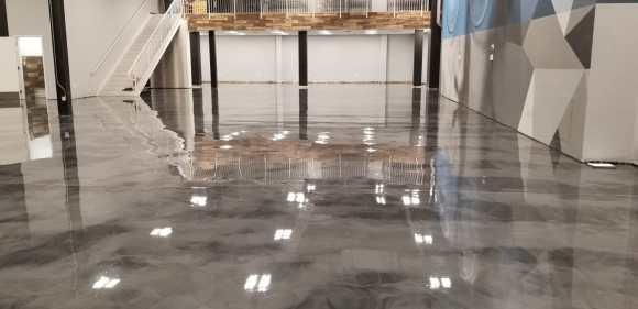 Jazwares Satin Finish Concrete Grey Metallic Epoxy Floors5