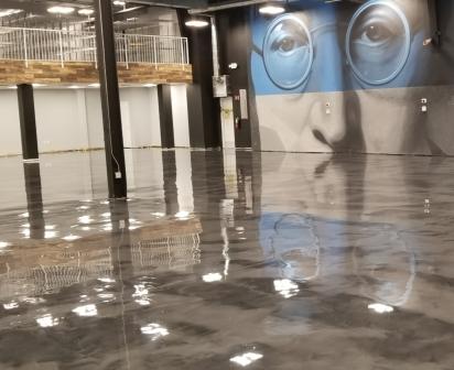 Jazwares Satin Finish Concrete Grey Metallic Epoxy Floors8