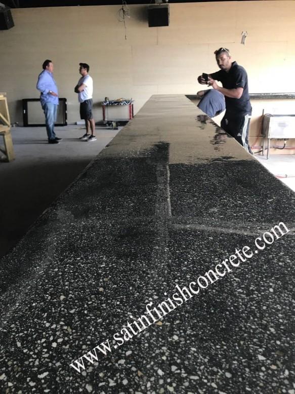 metallic epoxy countertop miami satin finish concrete