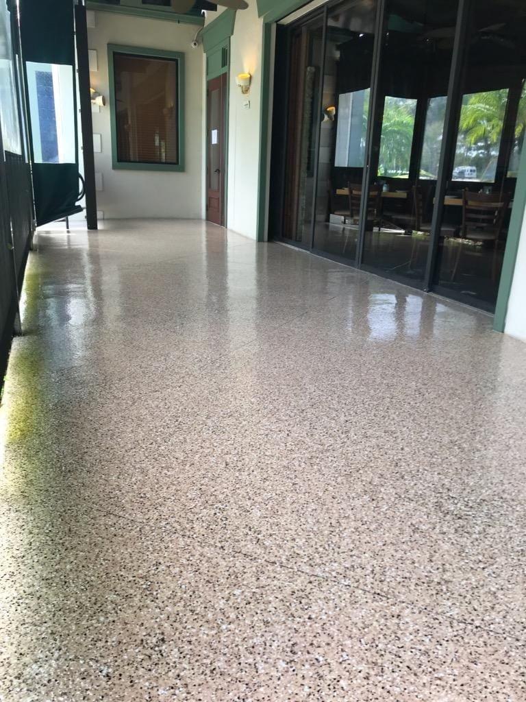 Satin Finish Concrete commercial epoxy flooring fort lauderdale